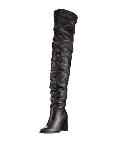 Histyle Slouchy Napa Over-The-Knee Boot