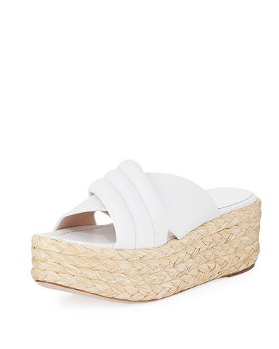 Pufftopraffia Woven Wedge Platform Sandal