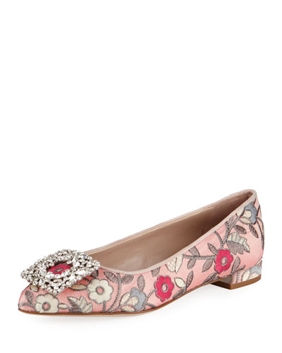 Fetching Ornament Ballerina Flat, Rose