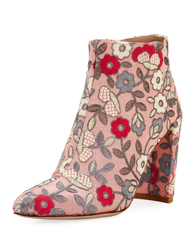 PURE EMBROIDERED BOOTIE