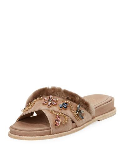 Nomedeplume Embellished Sandal, Haze