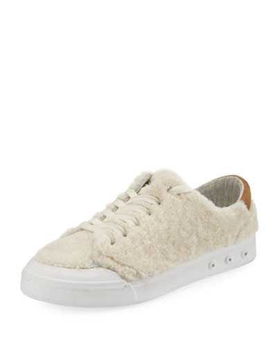 Standard Issue Shearling Fur Low-Top Sneaker