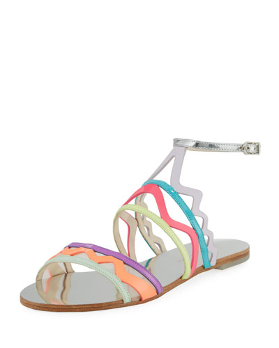 Mila Zigzag Flat Sandal
