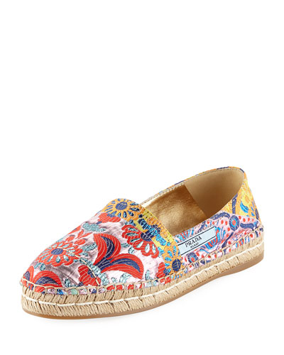 Multicolor Jacquard 20mm Espadrille