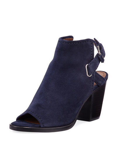 Dani Shield Slingback Bootie, Navy