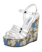 Jacquard Platform 130mm Wedge Sandal
