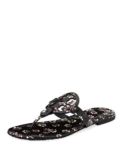 Miller Striped Flat Thong Sandal