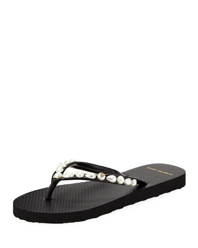 Pearlescent Flat Flip Flop
