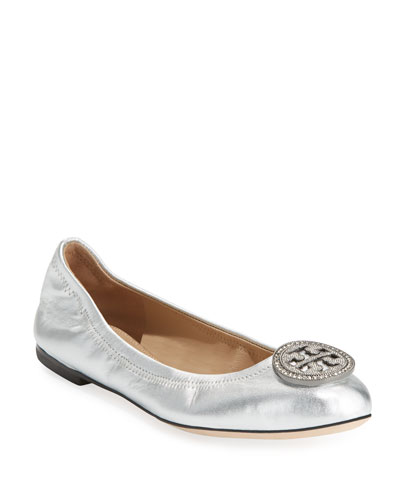 Liana Metallic Leather Ballerina Flat