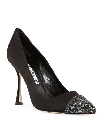 Cristalbi Crystal-Cap Satin Pump