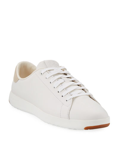 GrandPro Leather Tennis Sneaker, Optic White