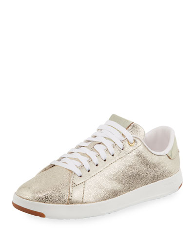 GrandPro Metallic Tennis Sneaker, Gold