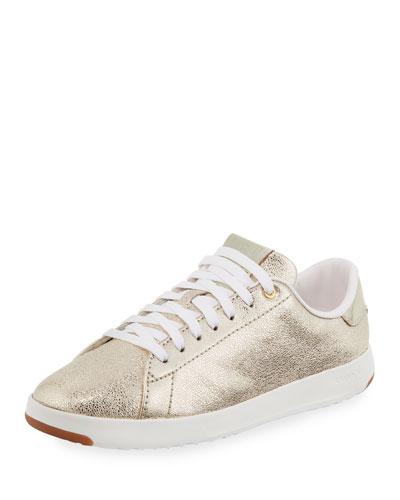 GrandPro Metallic Tennis Sneaker, Gold