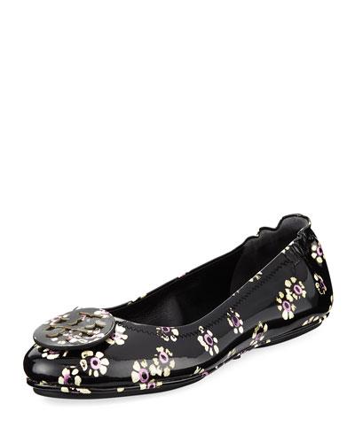 Minnie Stamped Floral Travel Ballerina Flat