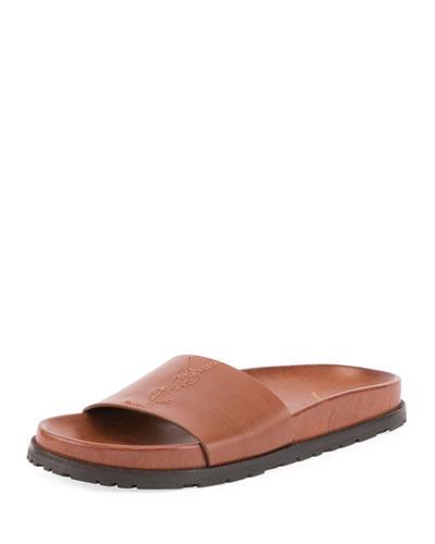 Jimmy Joan Calfskin Flat Sandal