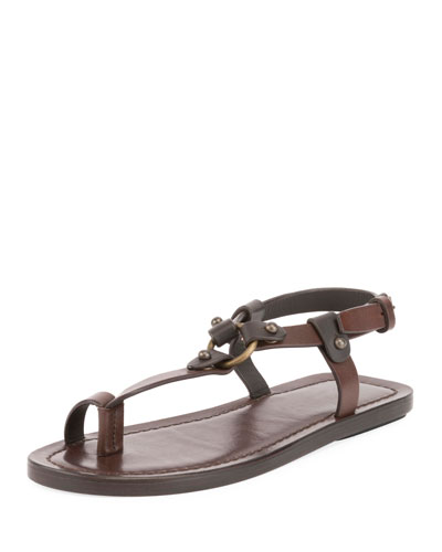 Nu Pieds Flat Leather Sandal