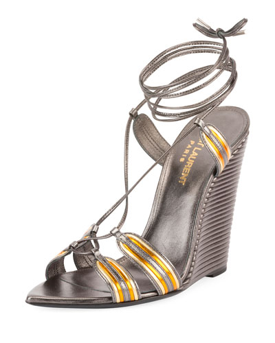 Talitha Metallic Wedge Sandal