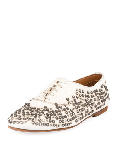 Unisex Studded Lace-Up Oxford