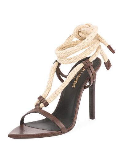 Majorelle Leather Rope Sandal