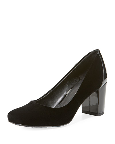 Palace Velvet Block-Heel Pump