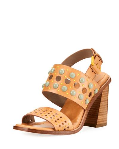 Estee Embellished Leather Sandal