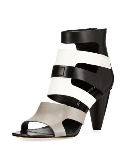 Paula Caged Colorblock Sandal