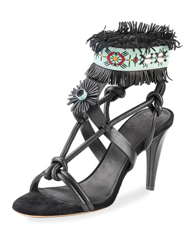 Abrily Santa Fe Fringe Sandal