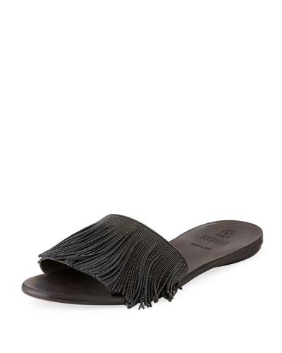 Monili Fringe Slide Sandal