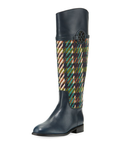 Miller Tweed/Leather Knee Boot