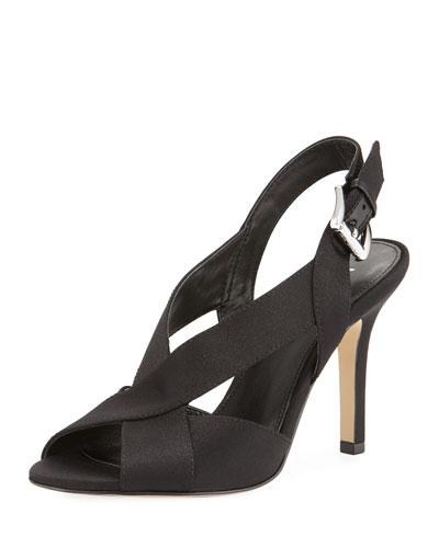 Becky Satin Slingback Sandal