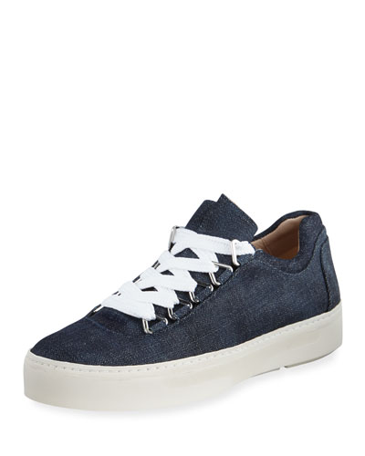 Gaming Lace-Up Denim Sneaker