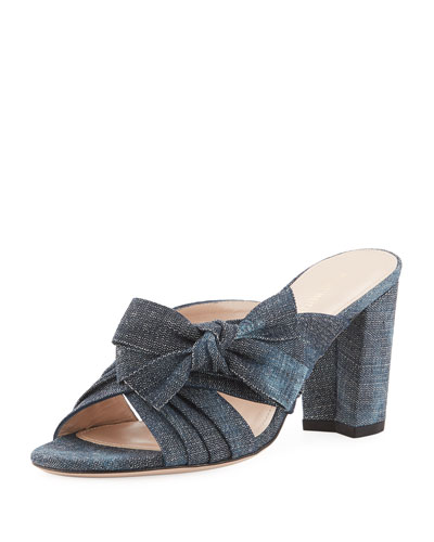 Bosungrande Denim Bow Mule Sandal