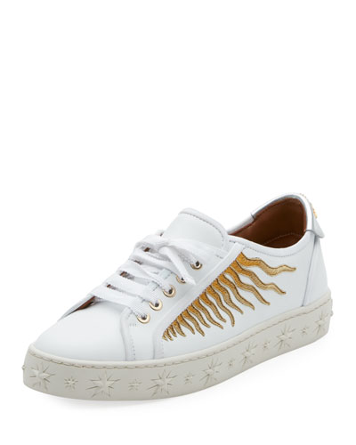 Sun Ray Embellished Leather Sneaker