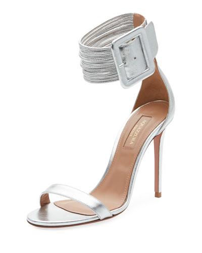 Casa Blanca Lamb Leather Ankle-Cuff Sandal
