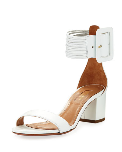 Casablanca 50mm Leather Ankle-Strap Sandal