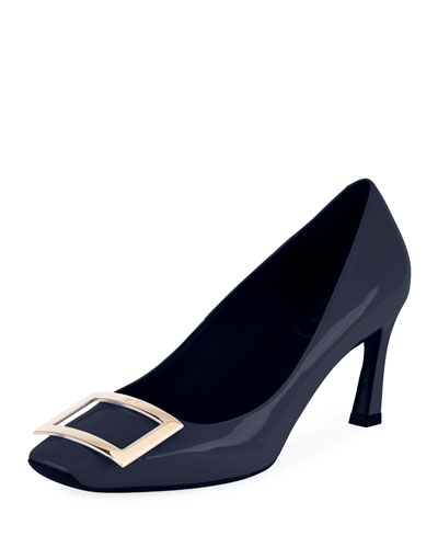 Trompette Patent Leather Pump, Blue