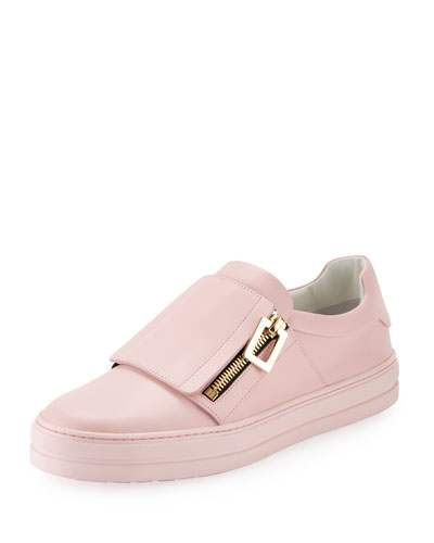 Sneaky Zip Leather Side-Zip Sneaker