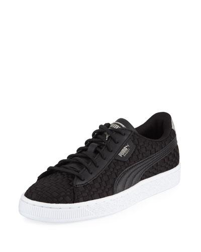 Basket Woven Satin Sneaker