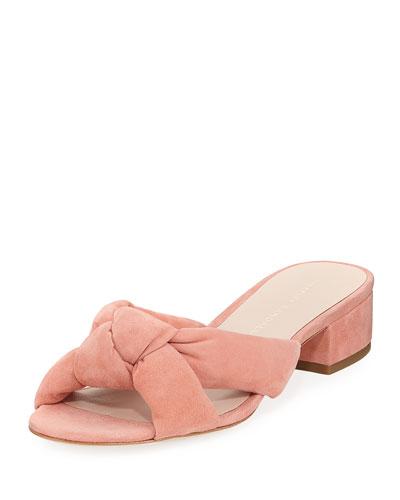 Elsie Suede Knot Slide Sandal