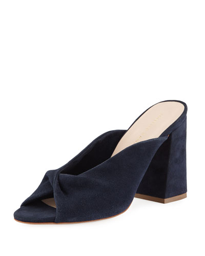 Laurel Twist Suede Mule Sandal