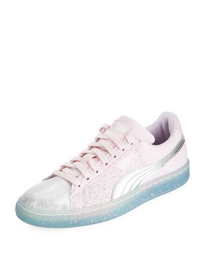 Suede Glitter Princess Sneaker