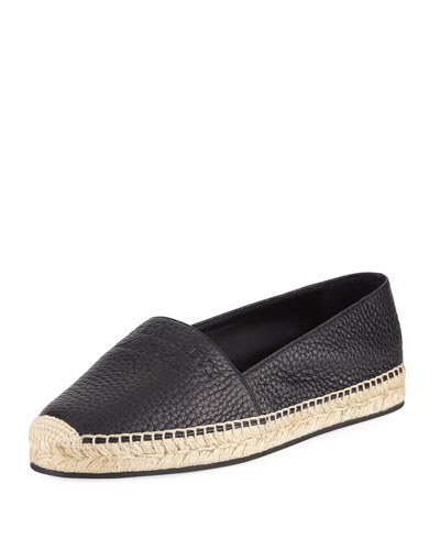 Hodgeson Logo Leather Espadrille Flat