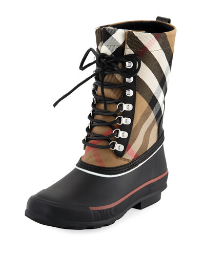 Rowlette Mid-Calf Check Rain Boot