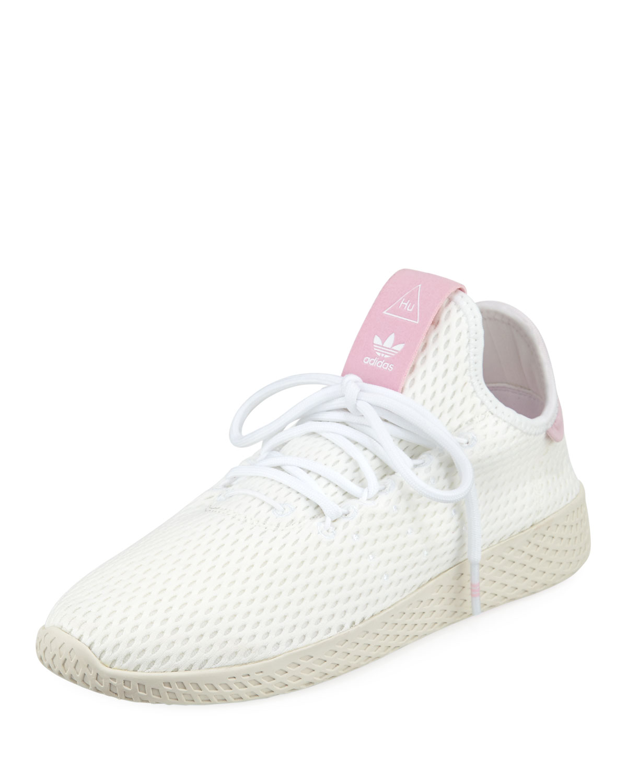 Women'S Originals Pharrell Williams Tennis Hu Casual Shoes, White, White/White Chalk