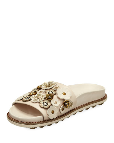 Sport Tea Rose Slide Sandal, White