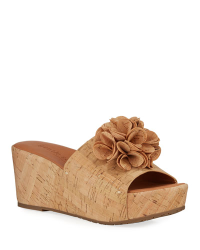 Forella Cork Wedge Platform Sandal