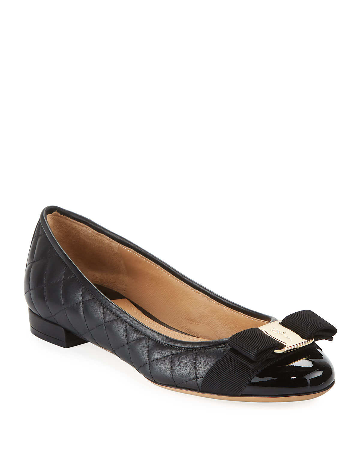 Quilted Bow Ballerina Flat