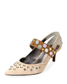 Runway Mary Jane Jeweled Pump
