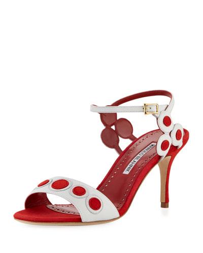 Kakanga Two-Tone Suede Sandal