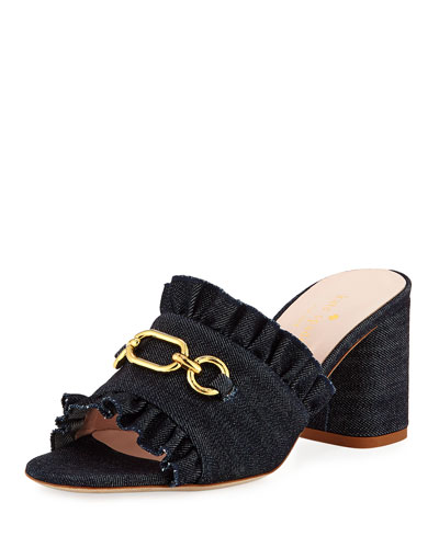 demmi heeled chain mule sandal
